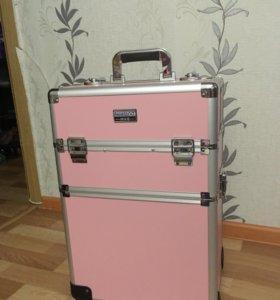 Бьюти-кейс розовый