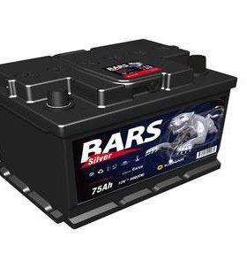Аккумулятор 6ст - 75 АПЗ (Bars Silver) - пп
