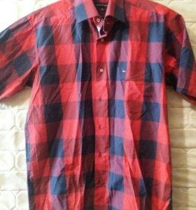 Мужская рубашка с коротким рукавом новая 52 размер