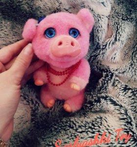 Свинка из шерсти