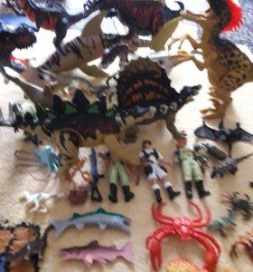 """Динозавры из наборов """"Динно"""""""