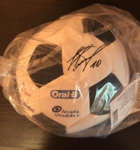 Мяч футбольный с автографом