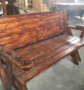 Лавка-стол массив
