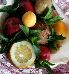 Фруктовые и овощные букеты