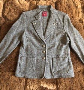 Пиджак куртка натуральная шерсть размер 48-50