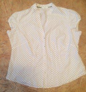 Блузка-рубашка женская в горошек👚