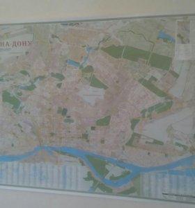 Карта Ростова на Дону