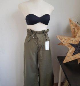 Новые брюки кюлоты bershka