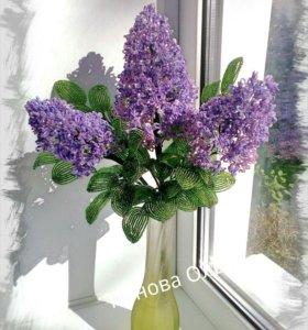 Цветы и букеты из бисера.