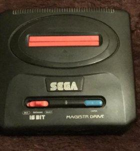Sega Magistr Drive + 4 игры (Торг)