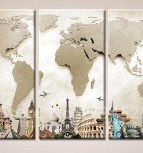 Постер триптих (модульная картина)