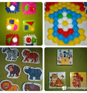 Сортер,пазлы,кубики,мозаика 1+