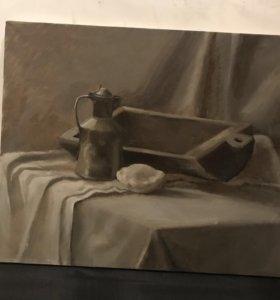 Картина маслом натюрморт размер 60*50
