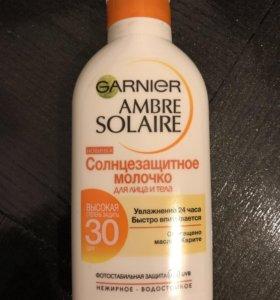 Garnier 30 spf солнцезащитное молочко, защита от с