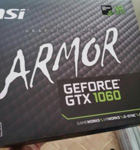 Msi geforce gtx 1060 armor 6gb