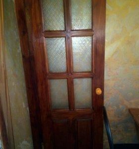 Дверь, массив сосна.