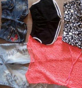 Шорты, джинсы, туника на стройную девочку