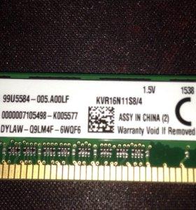 Оперативная память kingston DDR 3. 8GB