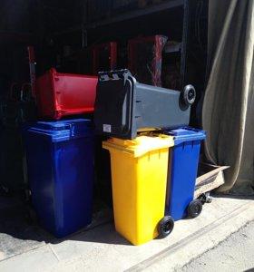Контейнеры для мусора. 120,240,660,1100 л