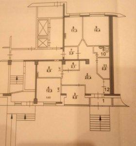 Квартира, свободная планировка, 101 м²