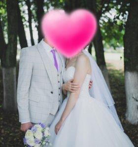 Свадебный мужской костюм тройка