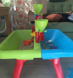 Столик для игры с песком, с водой