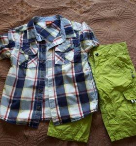 Шорты+рубашка kanz, 4-6 лет