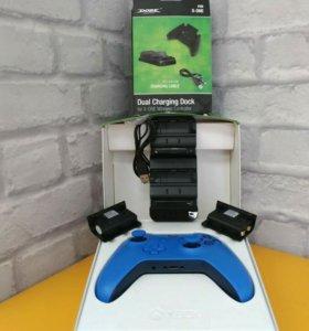 Геймпад Xbox One S, станция зар., 2 аккум.
