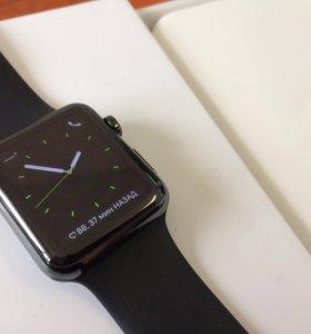 apple watch 1-42 stainless steel ceramic black