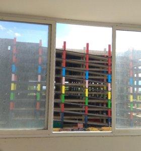 Алюминиевые раздвижные окна с новостройки.