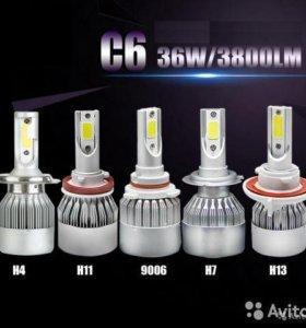LED (диоды) в головной свет H7,H8,H11,H1,H4,HB3