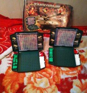 Настольная игра Танковый бой + домино в подарок