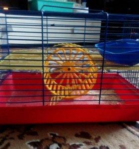 Клетка с колесом,кормушкой