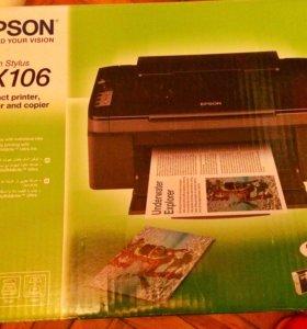 Новый принтер/сканер/копир Epson TX 106