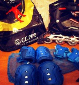 Роликовые коньки Cliff (размер 34-37)