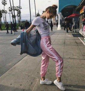 Брюки штаны женские с завышенной талией