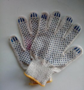Перчатки х\б с пвх напылением