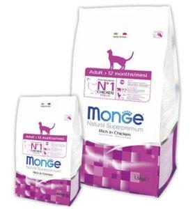 Monge Adult для взрослых кошек 10 кг