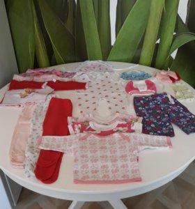 Пакет вещей для новорожденной
