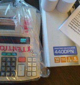 Калькулятор печатающий Citizen 440dpn 14 разрядный