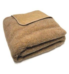 Одеяло-плед меховое согревающее из 100% шерсти