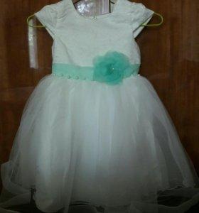 Платье белое для девочки
