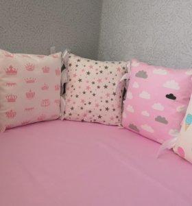 Бортики подушки (шью сама)