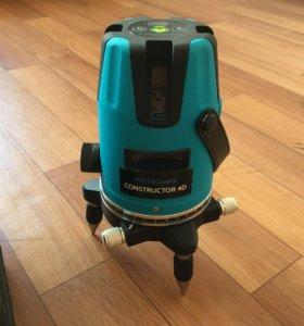 Лазерный нивелир 4D новый