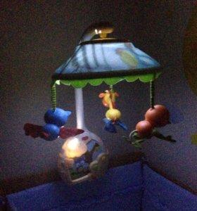 Мобиль проектор, ночник волшебная лампа Tiny Love