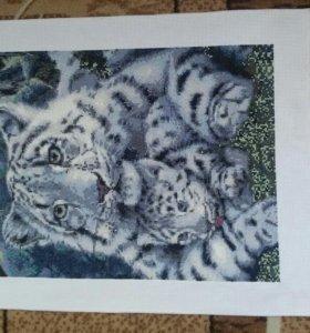 """Картина""""Тигрица с тигренком""""."""
