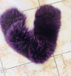 Мех лисы фиолетовый