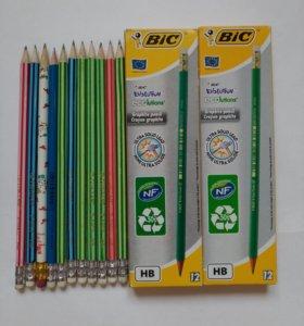 наборы карандашей Bic 12 шт.