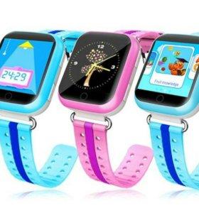 Умные детские часы с GPS трекером Q750