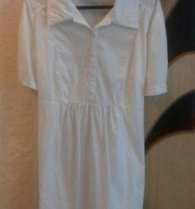 Продам рубашку белую для беременной